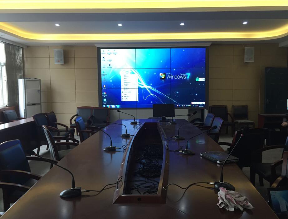 政府会议室液晶拼接屏显示案例